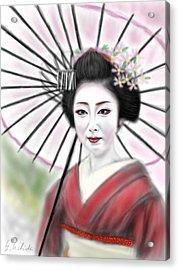 Geisha No.8 Acrylic Print by Yoshiyuki Uchida