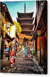 Acrylic Print featuring the photograph Geisha Temple by John Swartz