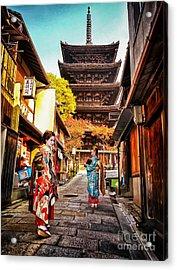 Geisha Temple Acrylic Print