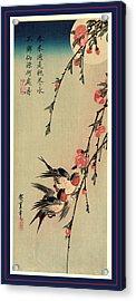 Gekka Momo Ni Tsubakura, Moon Hiroshige, 1797-1858 Acrylic Print