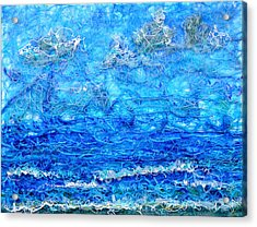 Gelid Seascape Revised Acrylic Print by Regina Valluzzi