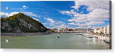 Gellert Hill And Danuber River In Budapest Acrylic Print by Michal Bednarek