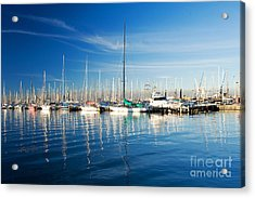 Acrylic Print featuring the photograph Gem Pier Of Williamstown by Yew Kwang