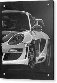 Acrylic Print featuring the painting Gemballa Porsche Left by Richard Le Page