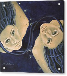 Gemini From Zodiac Series Acrylic Print by Dorina  Costras