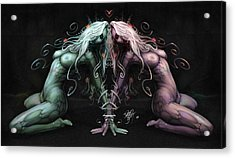 Gemini Heart Acrylic Print by David Bollt