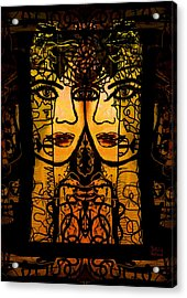 Gemini Twins Acrylic Print by Natalie Holland