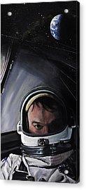 Gemini X- Michael Collins Acrylic Print by Simon Kregar