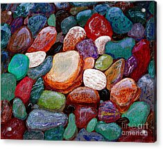Gemstones Acrylic Print by Barbara Griffin