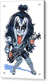 Gene Simmons Acrylic Print by Art