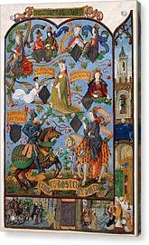 Genealogy Of Queen Isabella Acrylic Print