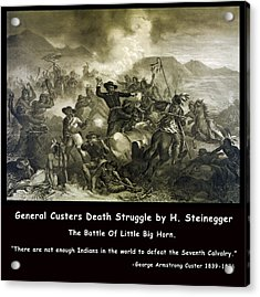 General Custers Death Struggle Acrylic Print by H Steinegger