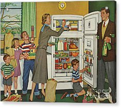 General Electric 1952 1950s Usa Fridges Acrylic Print by The Advertising Archives