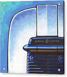 General Electric Toaster - Blue Acrylic Print by Larry Hunter