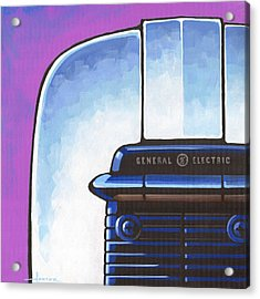 General Electric Toaster - Purple Acrylic Print by Larry Hunter