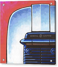 General Electric Toaster - Red Acrylic Print by Larry Hunter