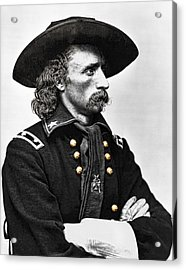 General George Armstrong Custer  Acrylic Print by Daniel Hagerman