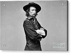 General George Armstrong Custer Killed 1876 Little Big Horn  Acrylic Print by David Call