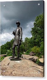 General K Warren Monument Gettysburg Acrylic Print by James Brunker