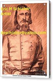 General Pickett Confederate  Acrylic Print by Eric  Schiabor