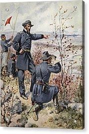 General Sherman At Kenesaw Mountain Acrylic Print