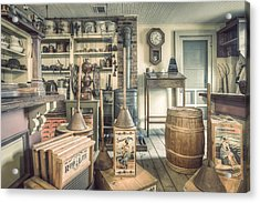 Acrylic Print featuring the photograph General Store - 19th Century Seaport Village by Gary Heller