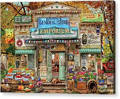 Acrylic Print featuring the drawing General Store by Aimee Stewart