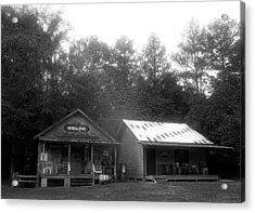 General Store In Black And White Acrylic Print