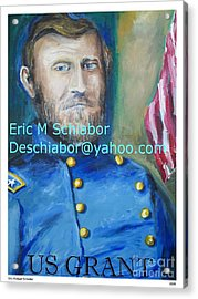 Acrylic Print featuring the painting General Us Grant  by Eric  Schiabor