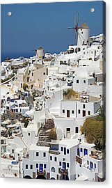 General View Of Oia, Santorini Acrylic Print