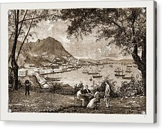 General View Of Victoria, Hong Kong Acrylic Print by Litz Collection