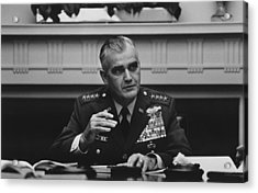 General William Westmoreland -- Vietnam War Acrylic Print by War Is Hell Store