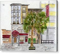 Gene's Restaurant In Greenwich Village Acrylic Print