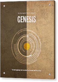 Genesis Books Of The Bible Series Old Testament Minimal Poster Art Number 1 Acrylic Print by Design Turnpike
