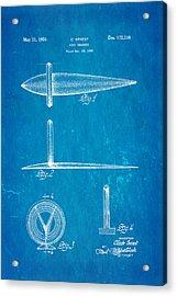 Genest Hood Ornament Patent Art Blueprint Acrylic Print