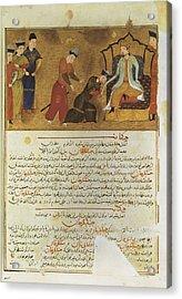 Gengis Khan 1162-1227. Emperor Founder Acrylic Print by Everett