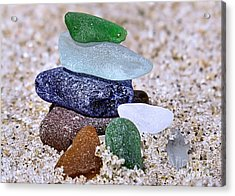 Genuine Sea Glass Acrylic Print