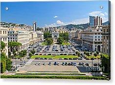 Genova - Piazza Della Vittoria Overview Acrylic Print by Antonio Scarpi