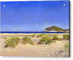 Genoveses Beach Acrylic Print by Margaret Merry