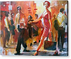 Gente Per Strada Acrylic Print by Alessandro Andreuccetti