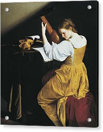 Gentileschi, Orazio Lomi 1565-1638. The Acrylic Print by Everett