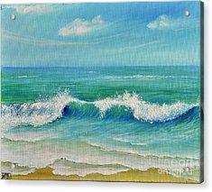 Acrylic Print featuring the painting Gentle Breeze by Teresa Wegrzyn
