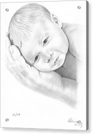 Acrylic Print featuring the drawing Gentle Innocence by Patricia Hiltz