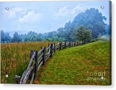 Gentle Morning - Blue Ridge Parkway I Acrylic Print by Dan Carmichael