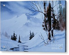 Gentle Mountains Acrylic Print by Teresa Ascone