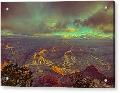 Gentle Sunrise Over The Canyon Acrylic Print by Lisa  Spencer