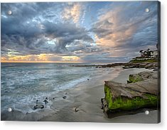 Gentle Sunset Acrylic Print by Peter Tellone