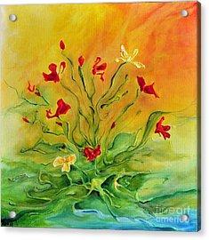 Gentle Acrylic Print by Teresa Wegrzyn