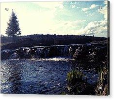 Gentle Waterfall Acrylic Print by Lucky Bro's