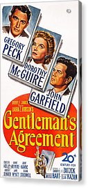 Gentlemans Agreement, Us Poster Acrylic Print